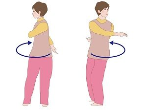 スワイショウ(手を左右に回転させる)の画像