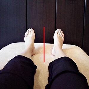 左右の足の開き方の違いが揃った画像