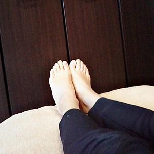左右の脚の長さの違いが揃った画像